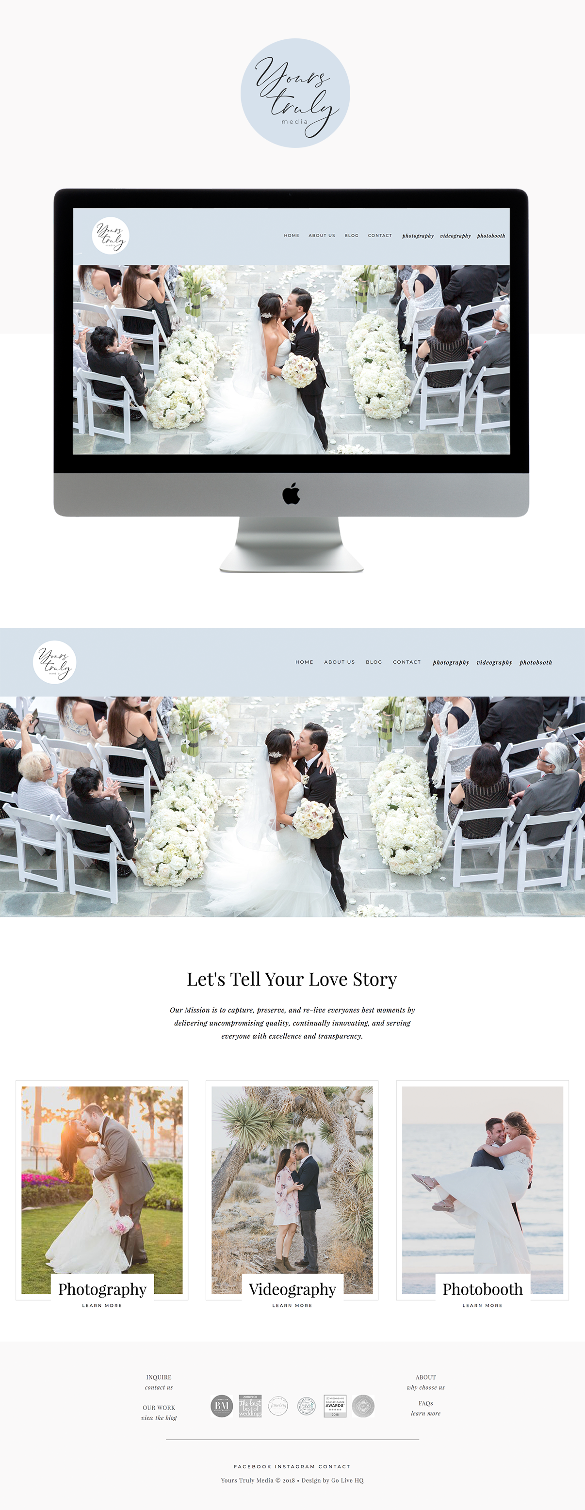 Elegant, High-End Website Design for Wedding Photographers   Design by Go Live HQ