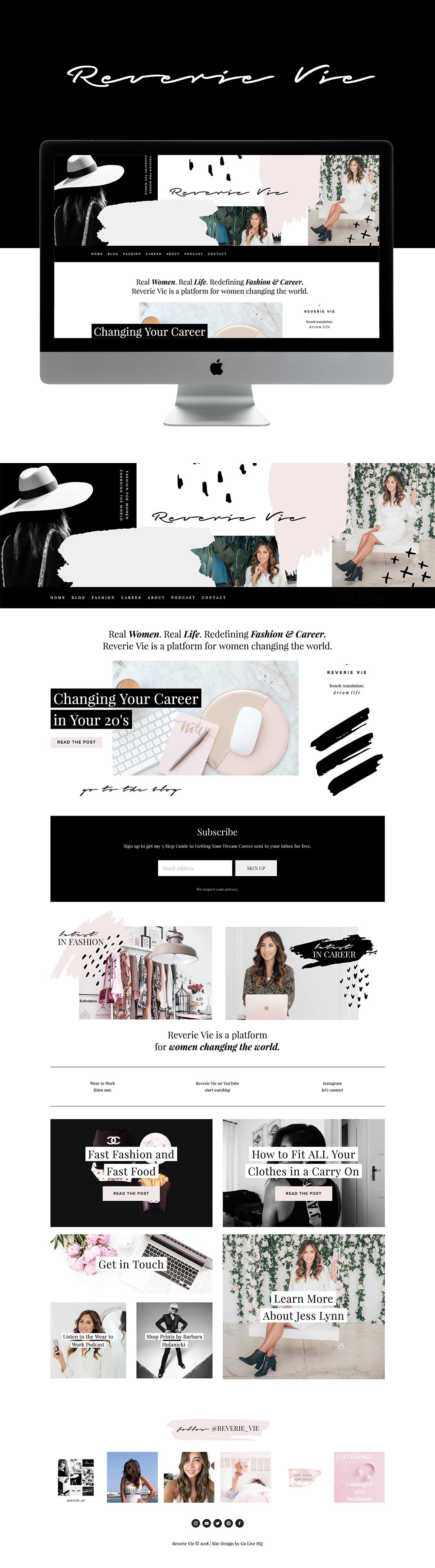 Bold, High-End, Creative Website Design for Fashion Blogger | Design by Go Live HQ
