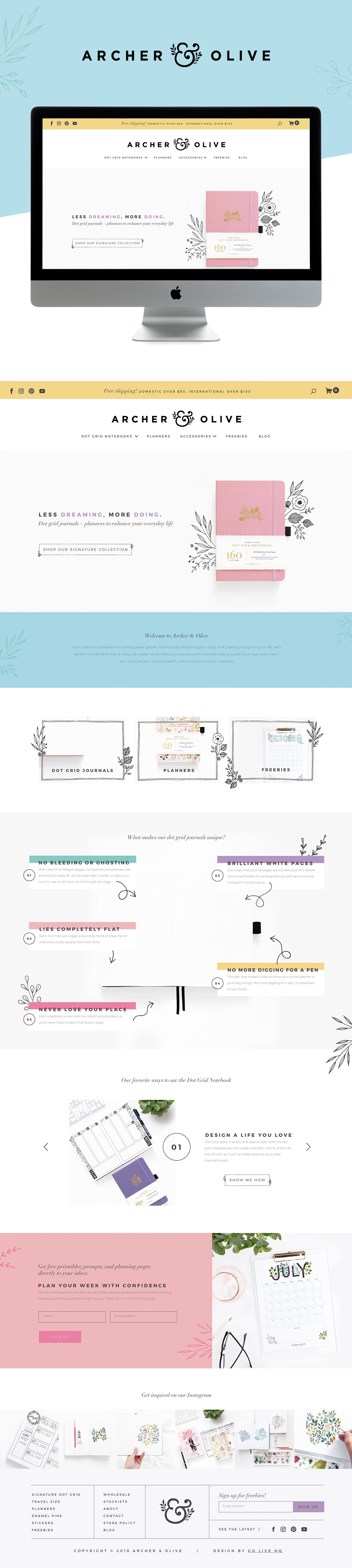 Playful, Modern and Colorful Website Design for Stationary Brand | Design by Go Live HQ