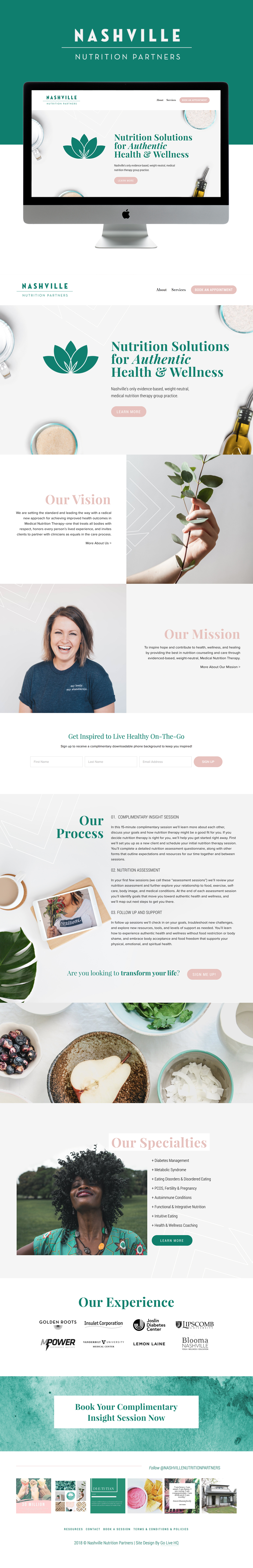 Modern & Inviting Website Design for Nutrition Therapists   Design by Go Live HQ