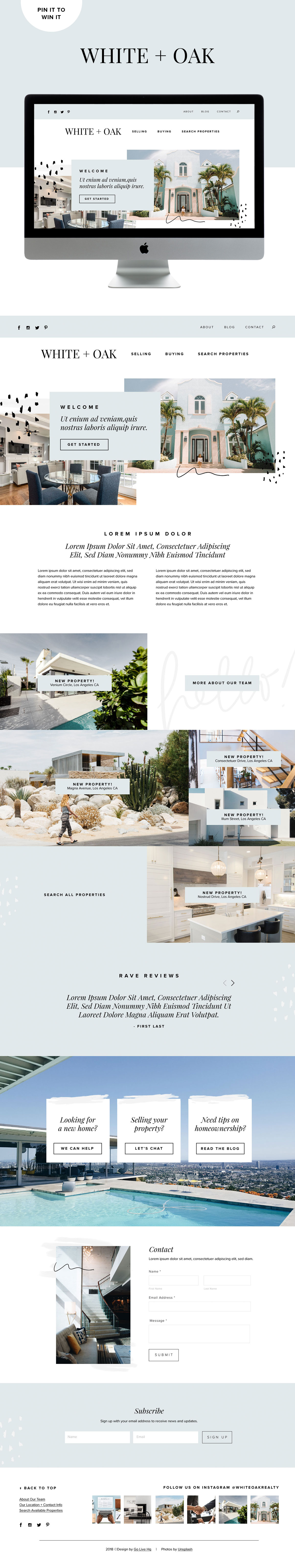 Modern and Fresh Website Design for Realtors & Home Designers | Go Live HQ