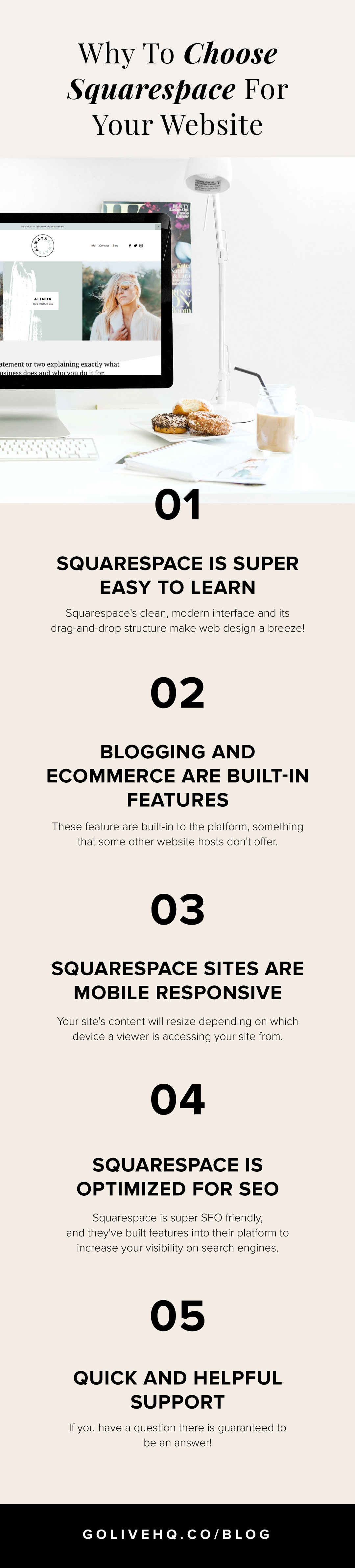 Why To Choose Squarespace For Your Website | Go Live HQ