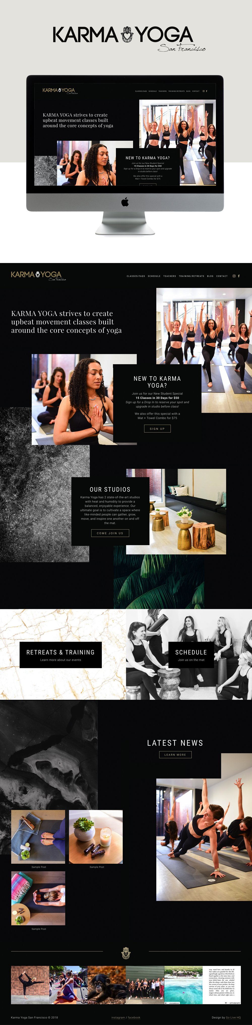 Chic, Clean, Modern Website For Yoga Studio | Design by Go Live HQ