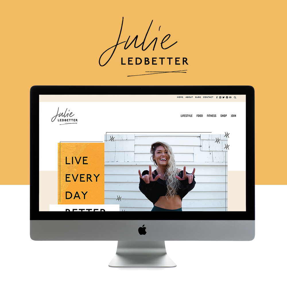 Authentic, Fun, and Colorful Website Design for Health & Wellness Mentor   Design by Go Live HQ