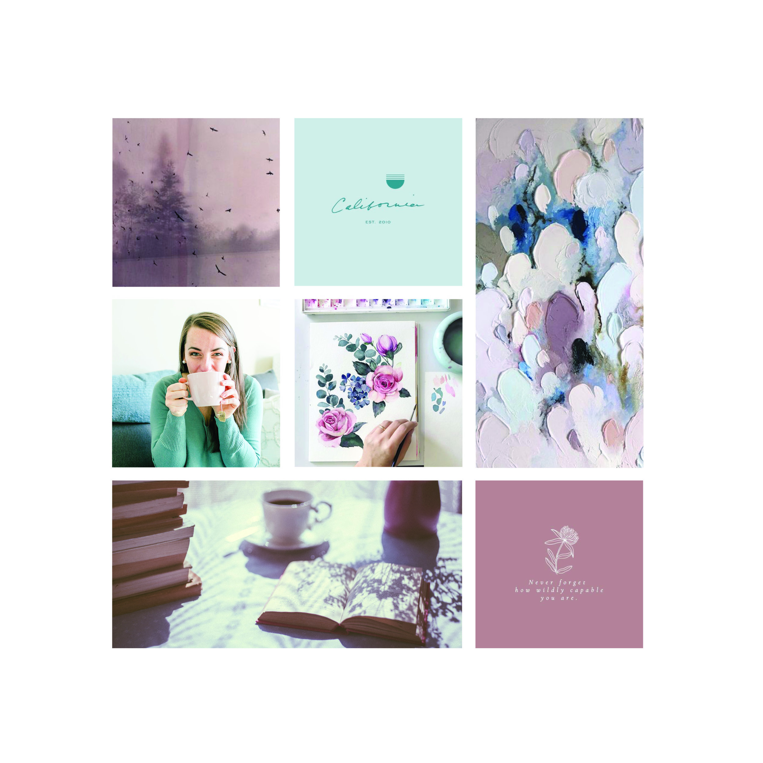 Mood Board for Writing Coach's Website  | Go Live HQ