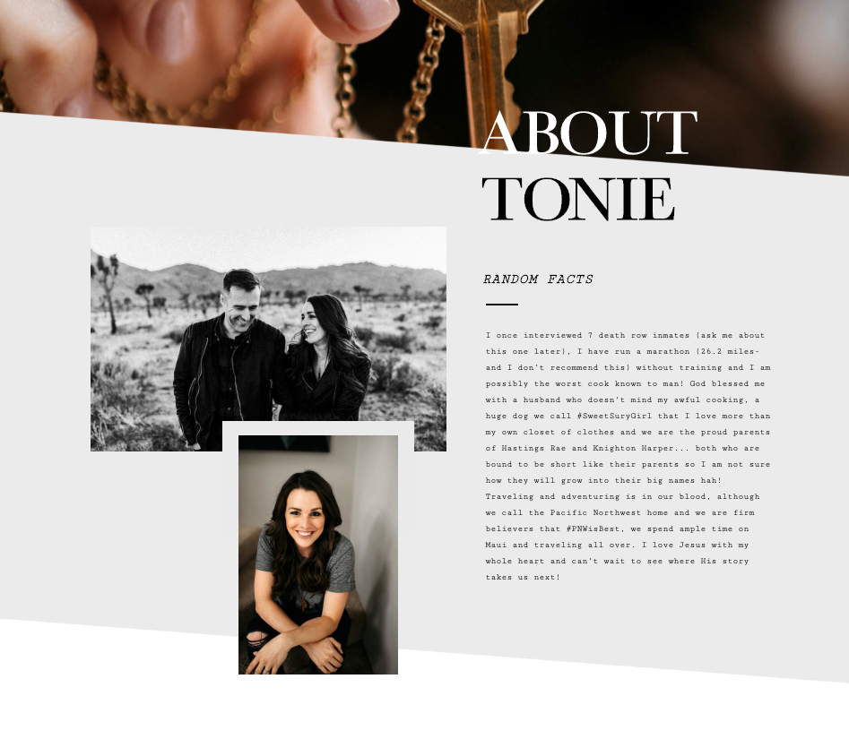 TONIE CHRISTINE: BLAZE YOUR OWN TRAIL - Check out our Q-and-A with Tonie below about her photography business, how she knew she wanted to work for herself, and her big tips for getting organized.