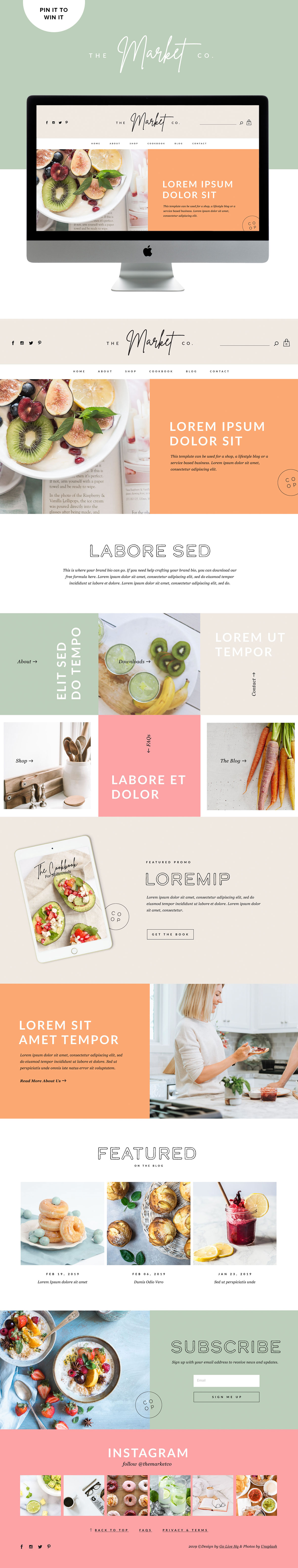 Colorful, Bright and Fun Squarespace Website Template Design For Squarespace   By GoLive