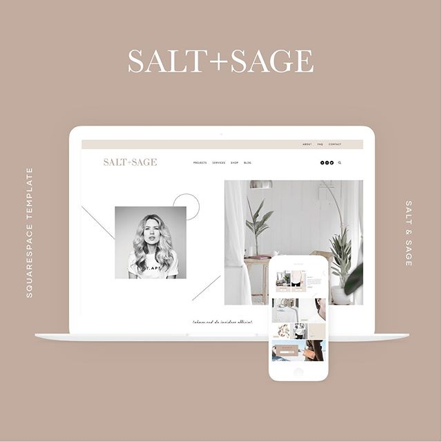 😍 We LOVE seeing how our small business owners customize our Squarespace Templates to make something unique for their brand and business. SWIPE to see some of our favorite customizations of our Salt + Sage Template for Squarespace! -  Check out the link in our bio to see Salt + Sage in the shop!