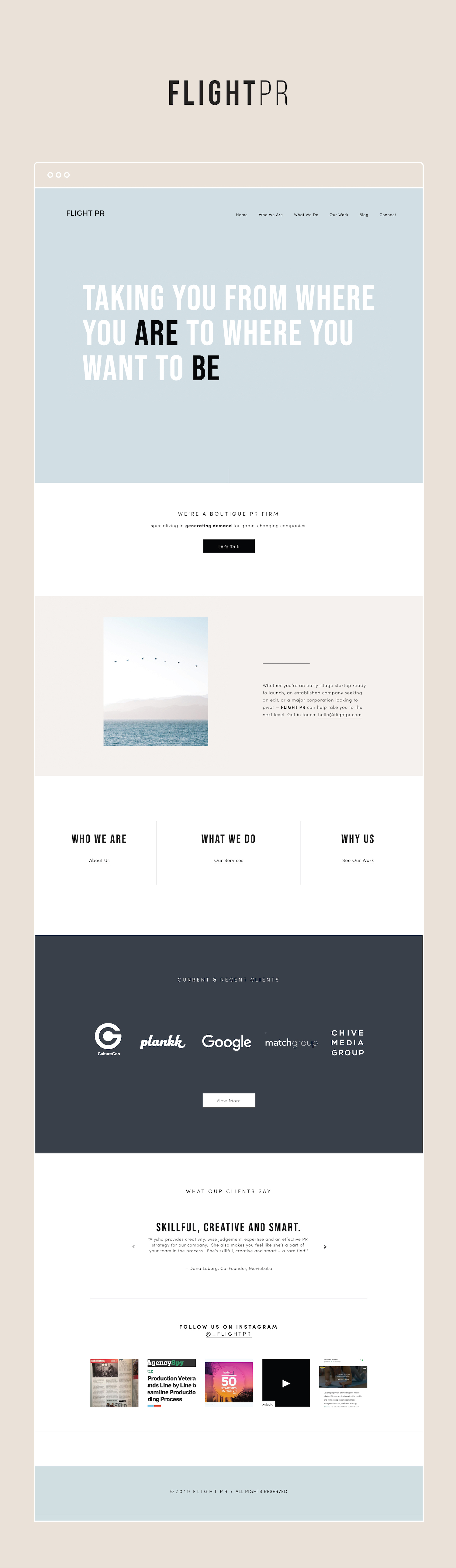 Custom, Minimal, Typography Squarespace Website Design | By GoLive
