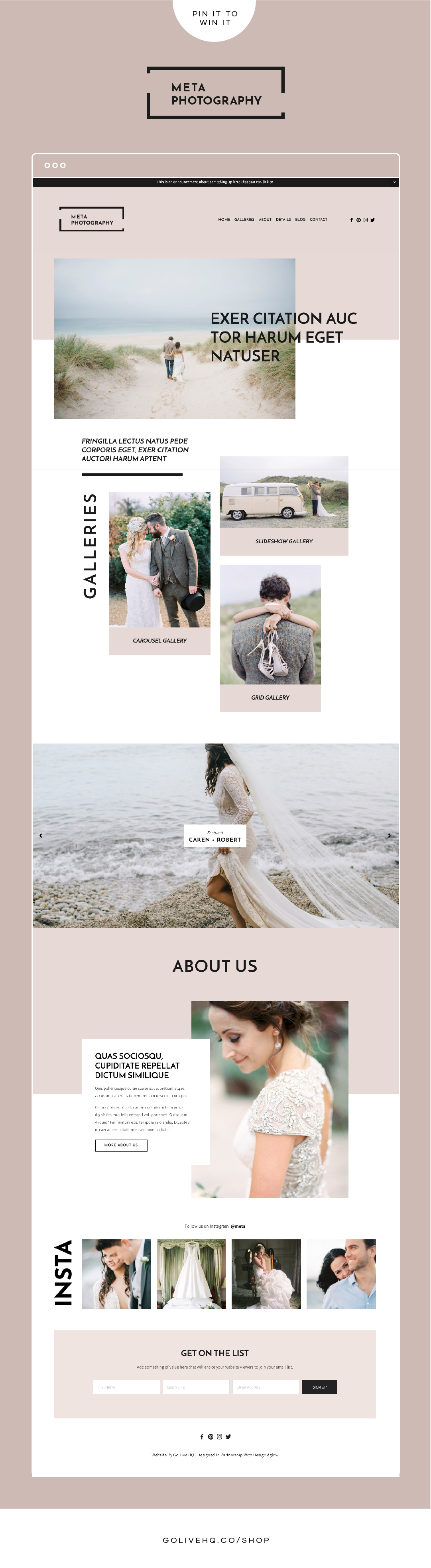 Modern, Minimal Photography Website Template Design For Squarespace | By Golive