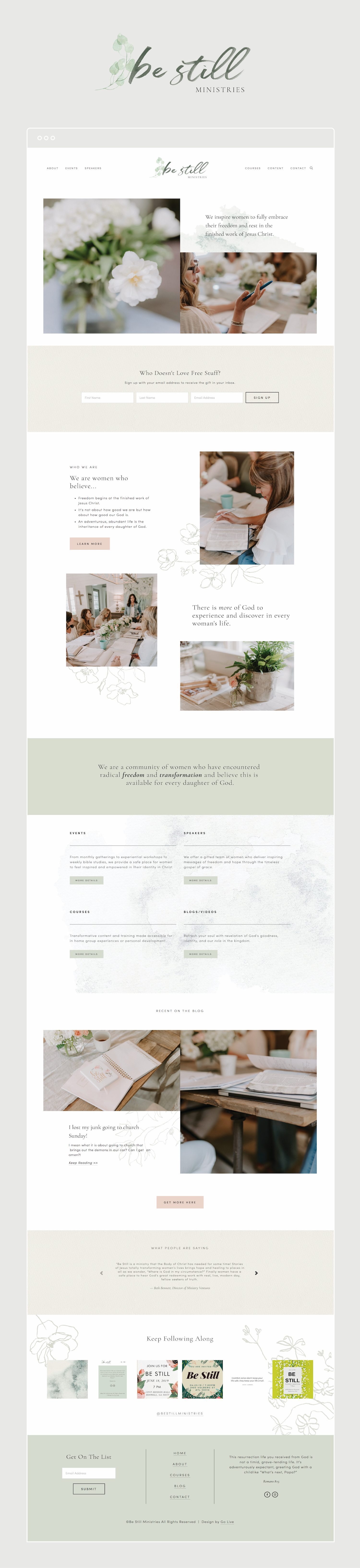 Earthy, Organic, Timeless Squarespace Website Design For Ministry | By GoLive