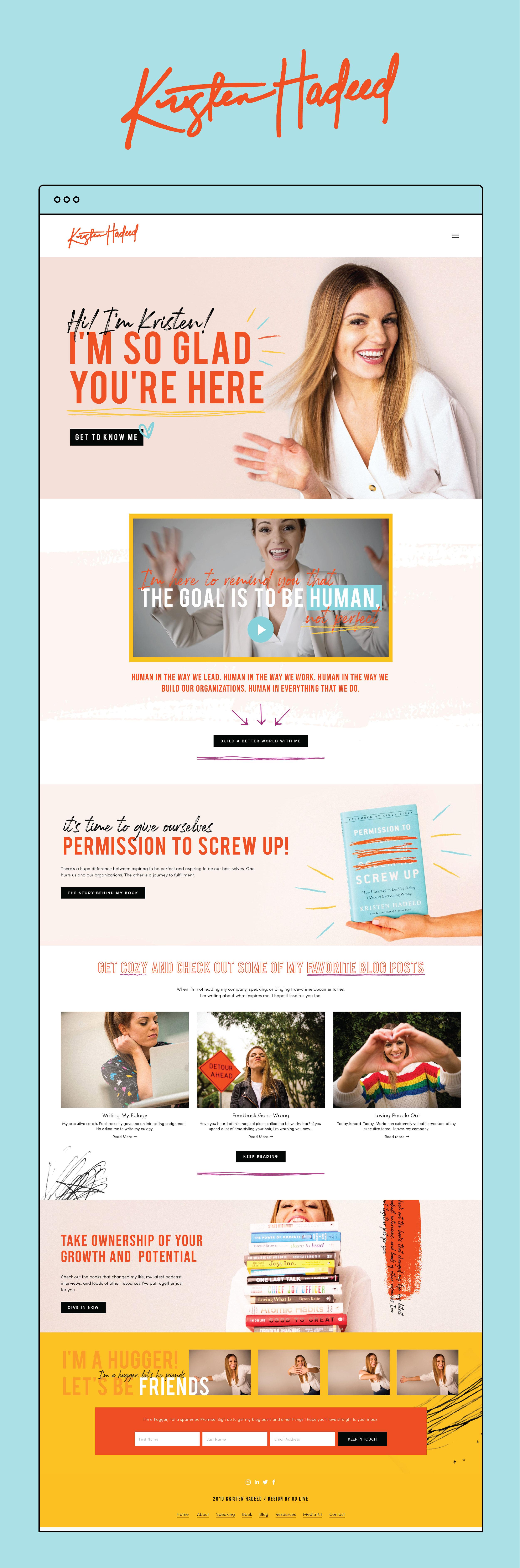 Bright, Colorful & Unique Custom Squarespace Website Design | By GoLive