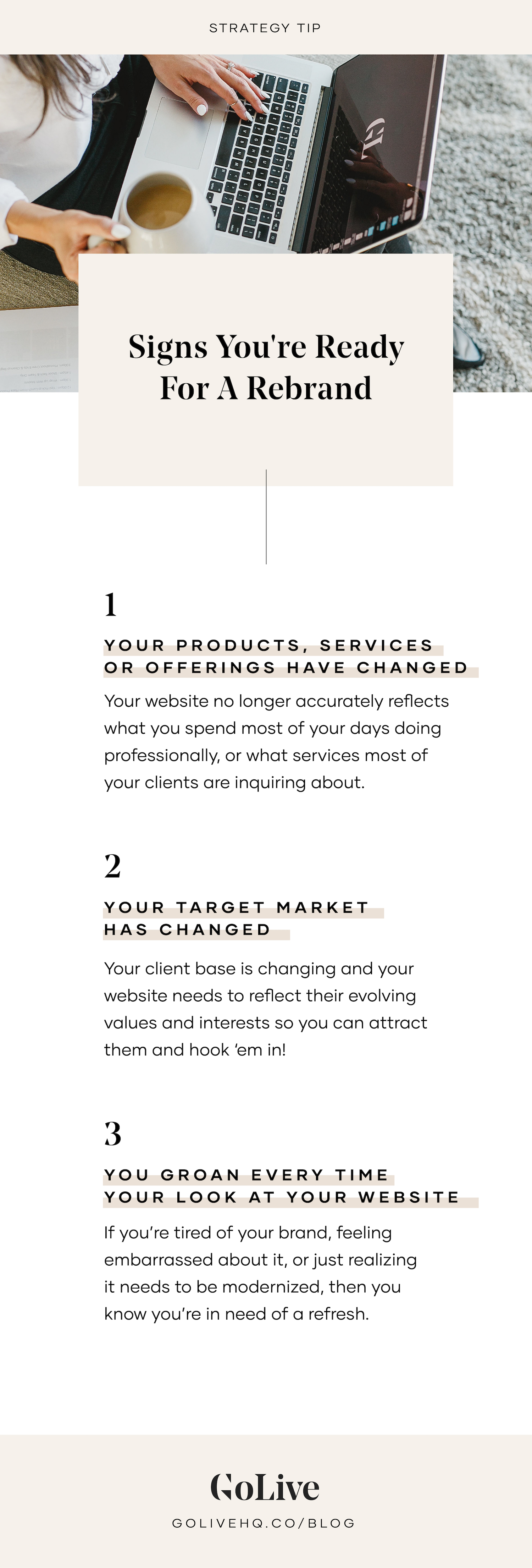 3 signs you're ready for a rebrand   By GoLive