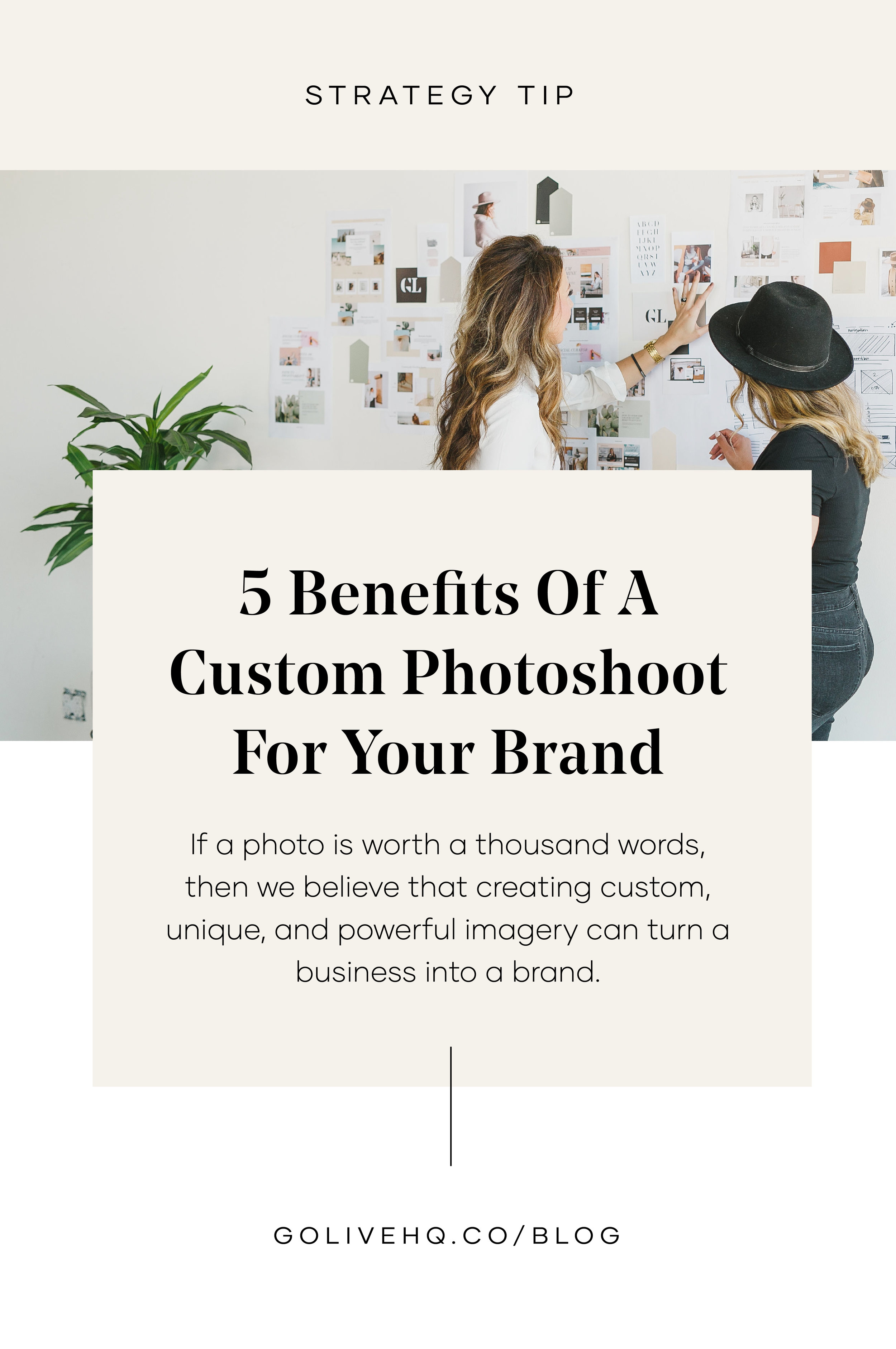 Benefits Of A Custom Photoshoot For Your Brand | By GoLive