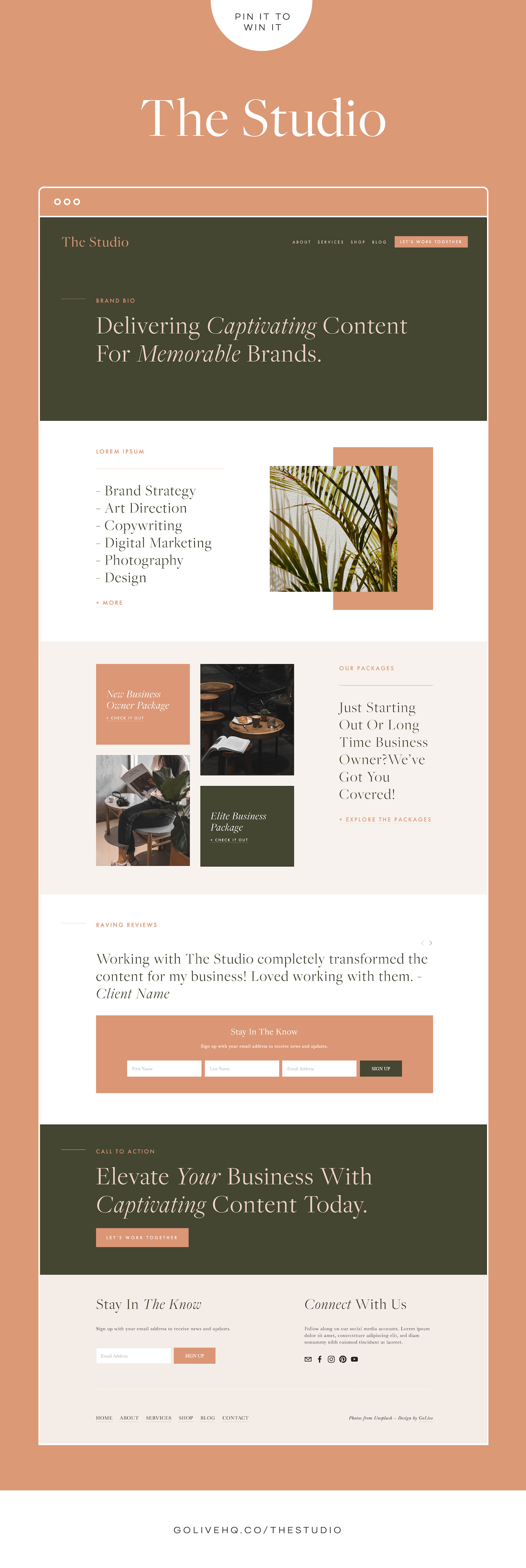 Modern, Minimal Squarespace Website Template For Small Business Owners