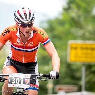 Perry vd bos in actie voor de nationale mountainbikeselectie