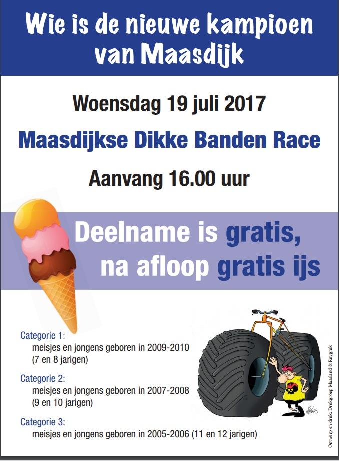 programma rabo dikke banden race met gratis ijs en t-shirt voor alle deelnemers