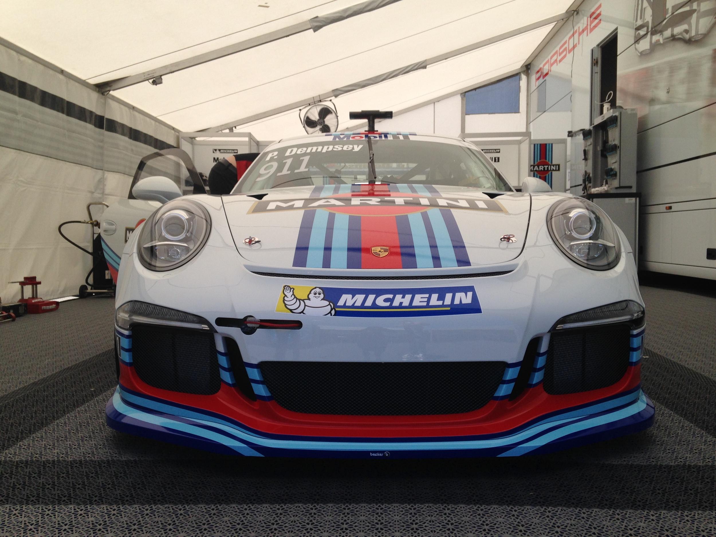 Patrick Dempsey's Martini-liveried Porsche