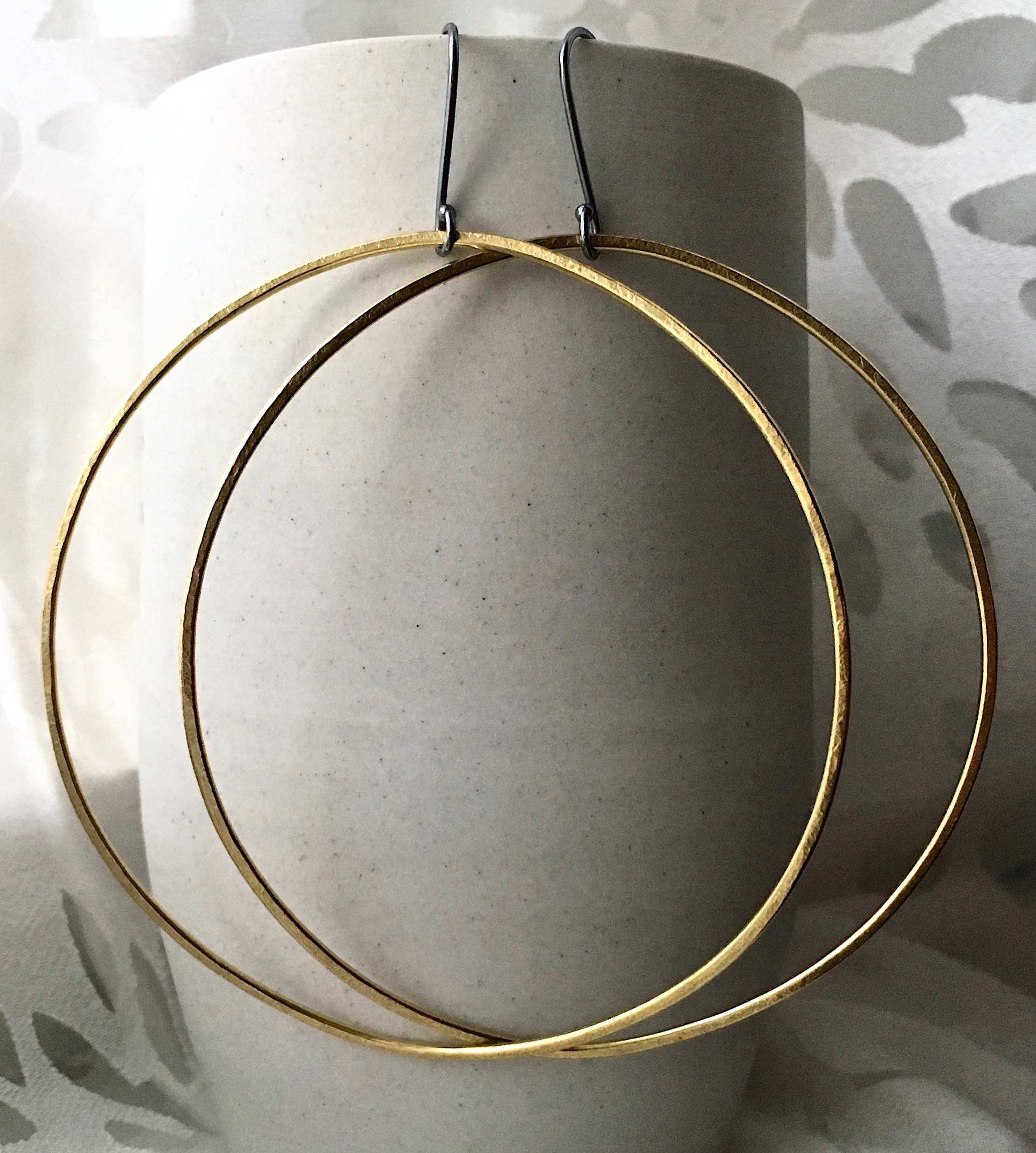 city dweller hoops, an old favorite redone in brass