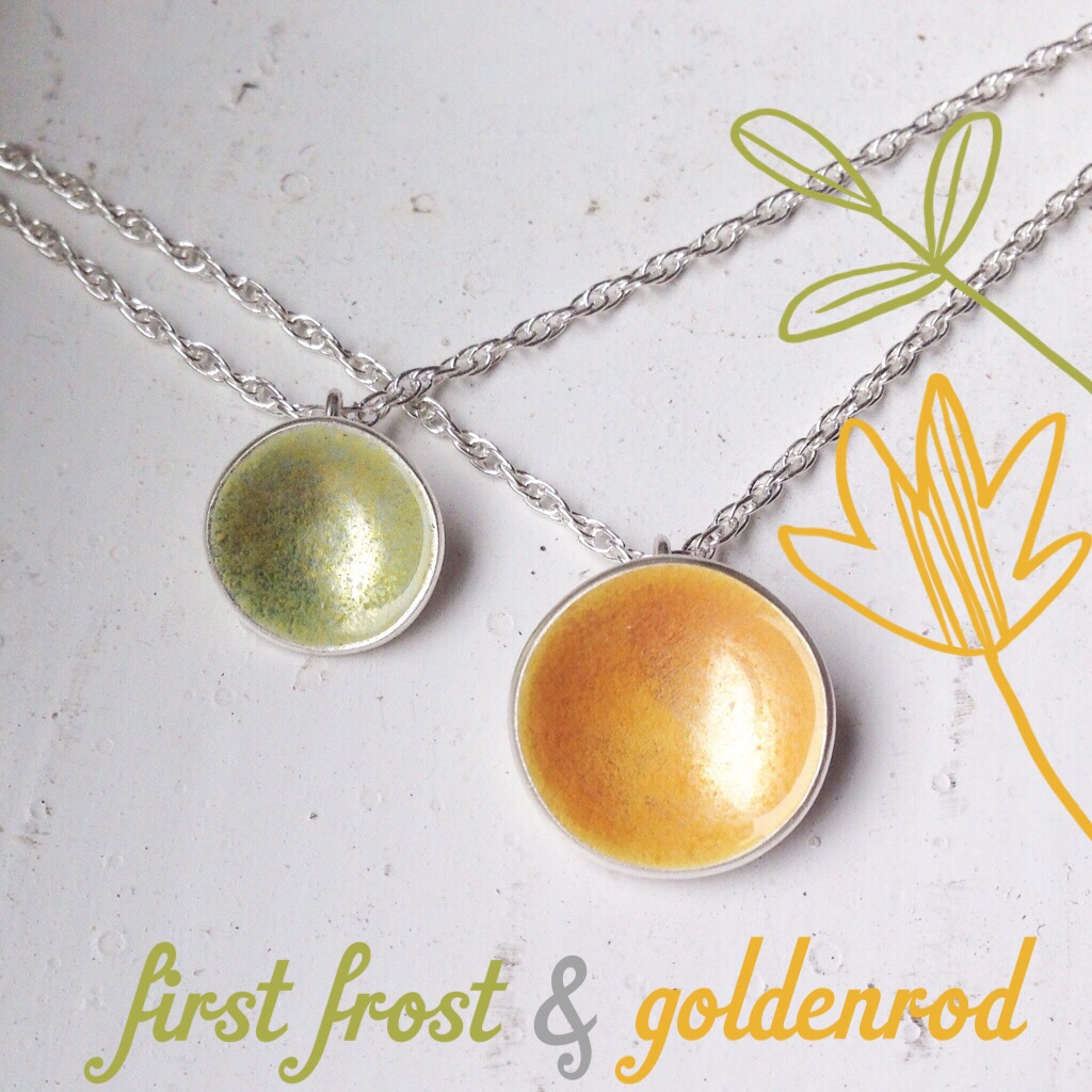 goldenrod and first frost nasturtium necklace