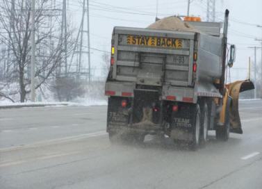 Plow trucks are par of the winter urban landscape in Illinois (photo by Nick Nikola, SCWN)