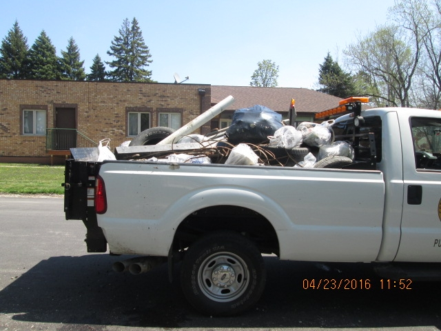A truckload of trash removed from Salt Creek in Wood Dale