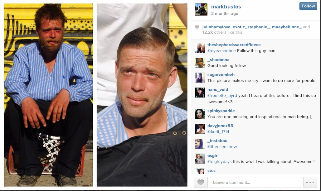 MarkBustos HerChairHisHair Instagram Free Haircuts