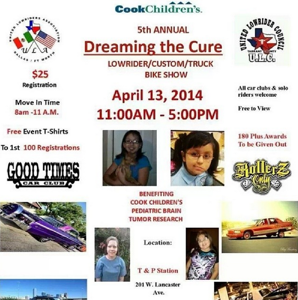 A flyer from last year's event hosted by Dreaming the Cure.