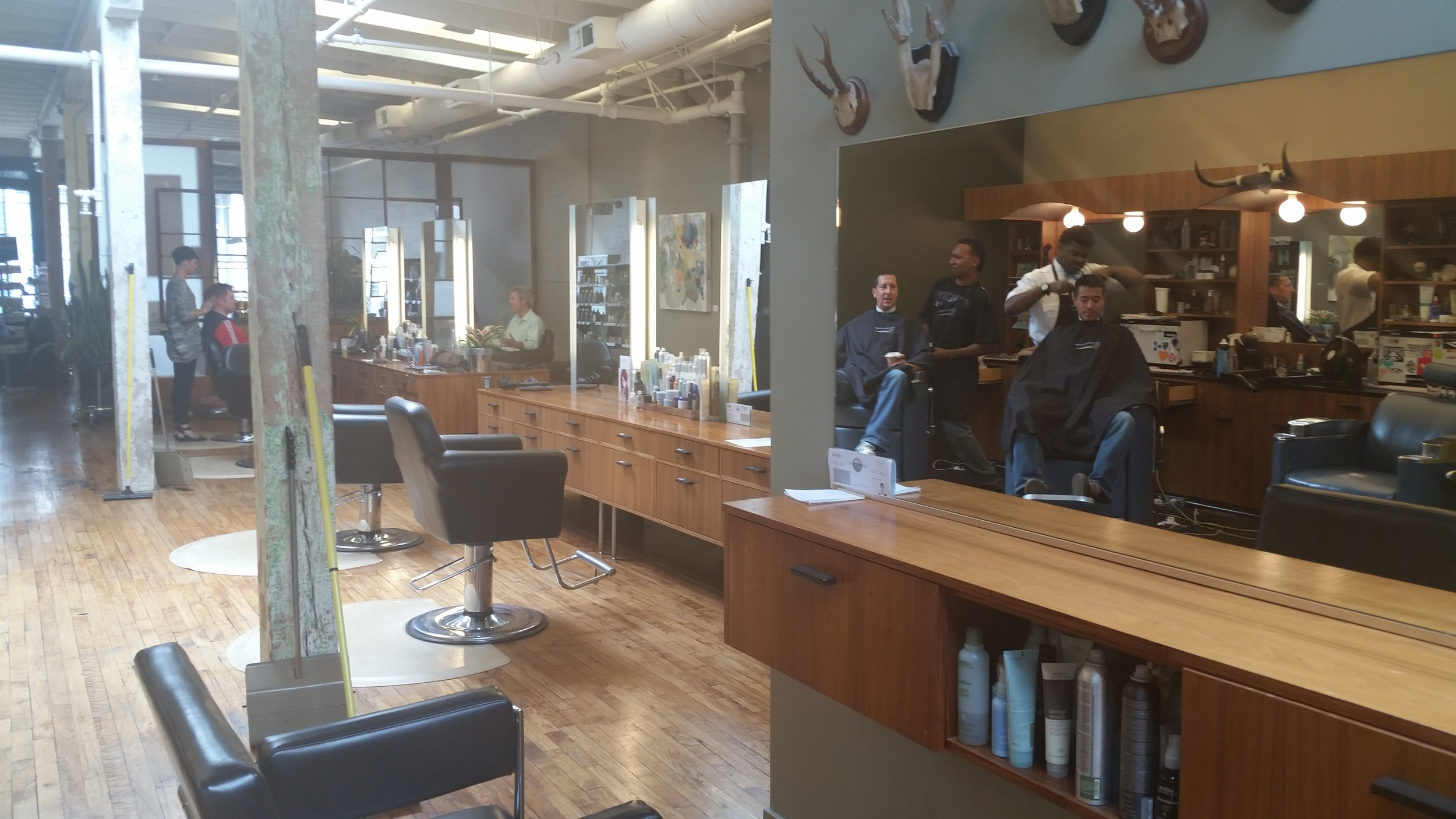 The Barber Lounge located on Folsom Street, San Francisco.
