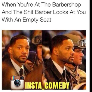 Don't be that barber. Thanks for the visual, @Insta_Comedy