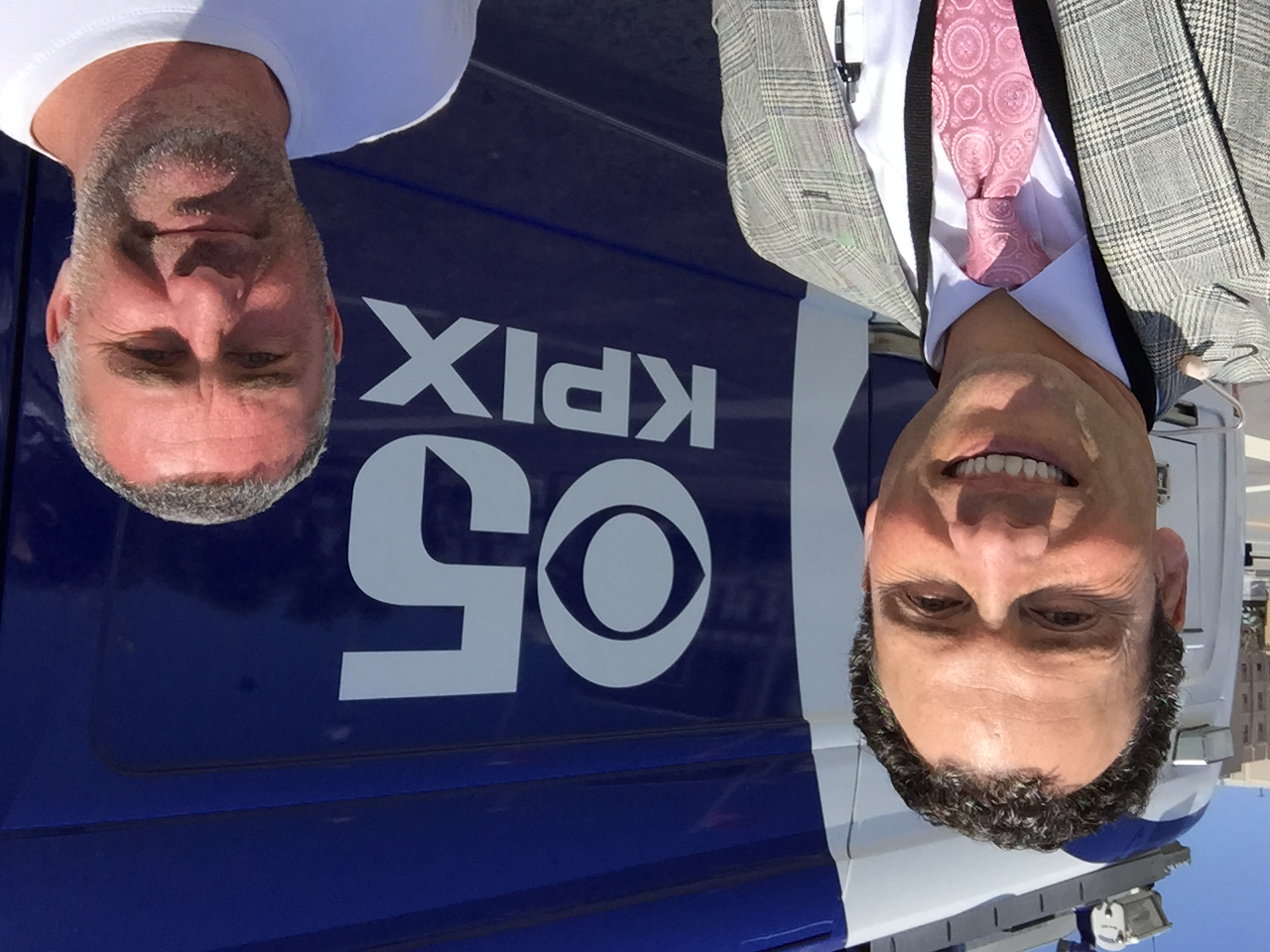 Me with KPIX 5 videographer Gregg Welk.
