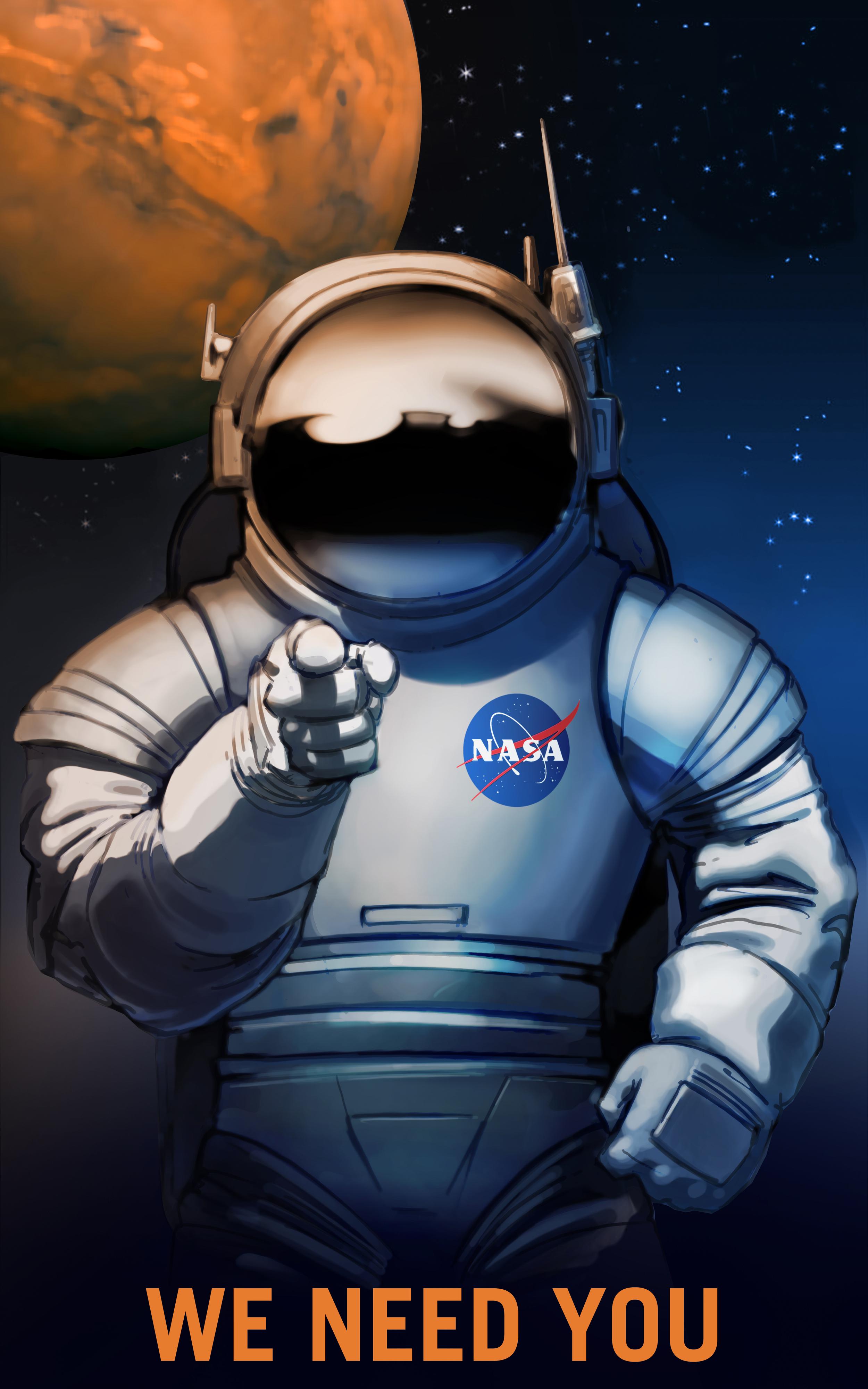 NASA recruiting poster.