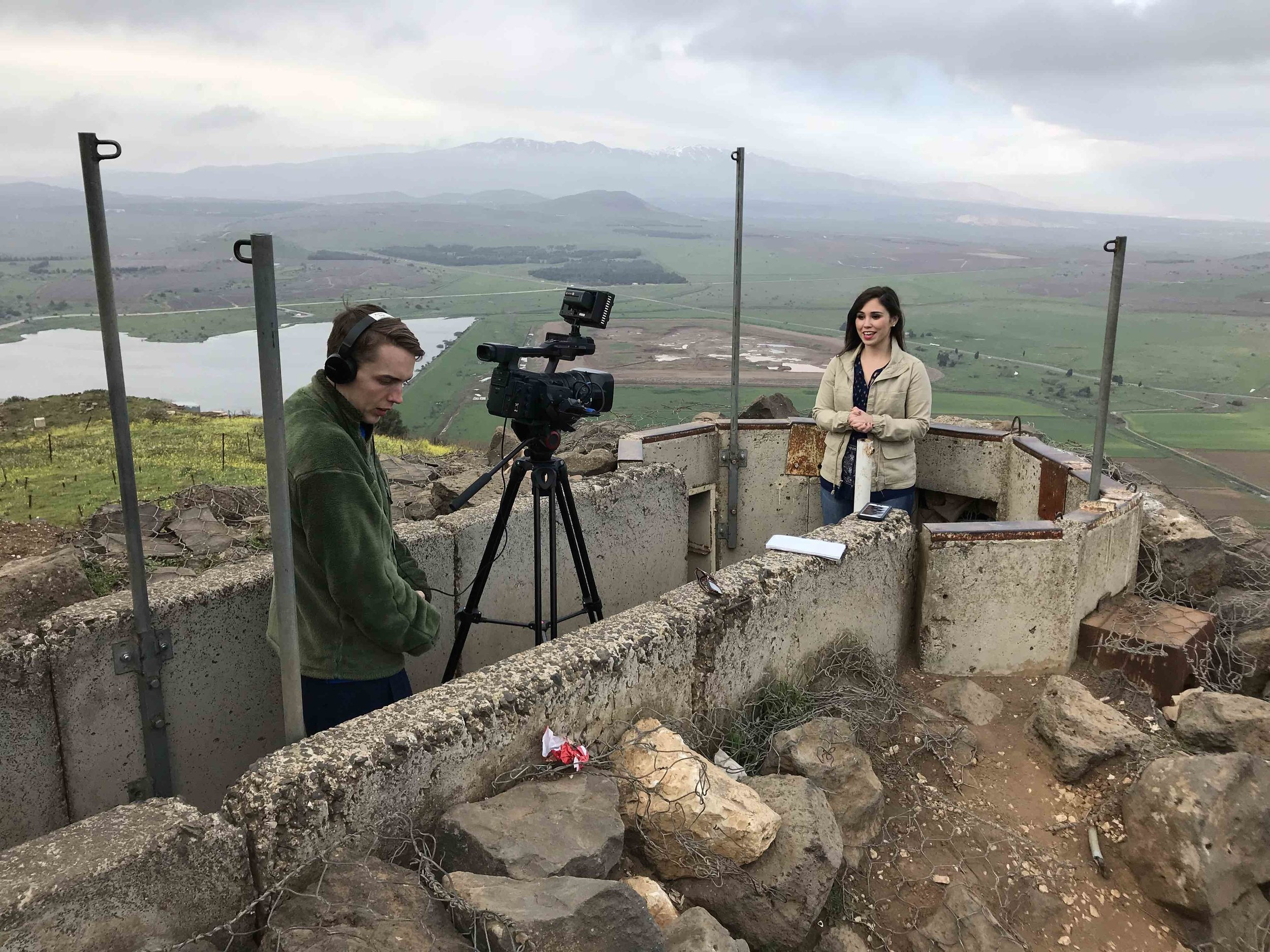 Newhouse student Christine Morton at the Golan Heights.