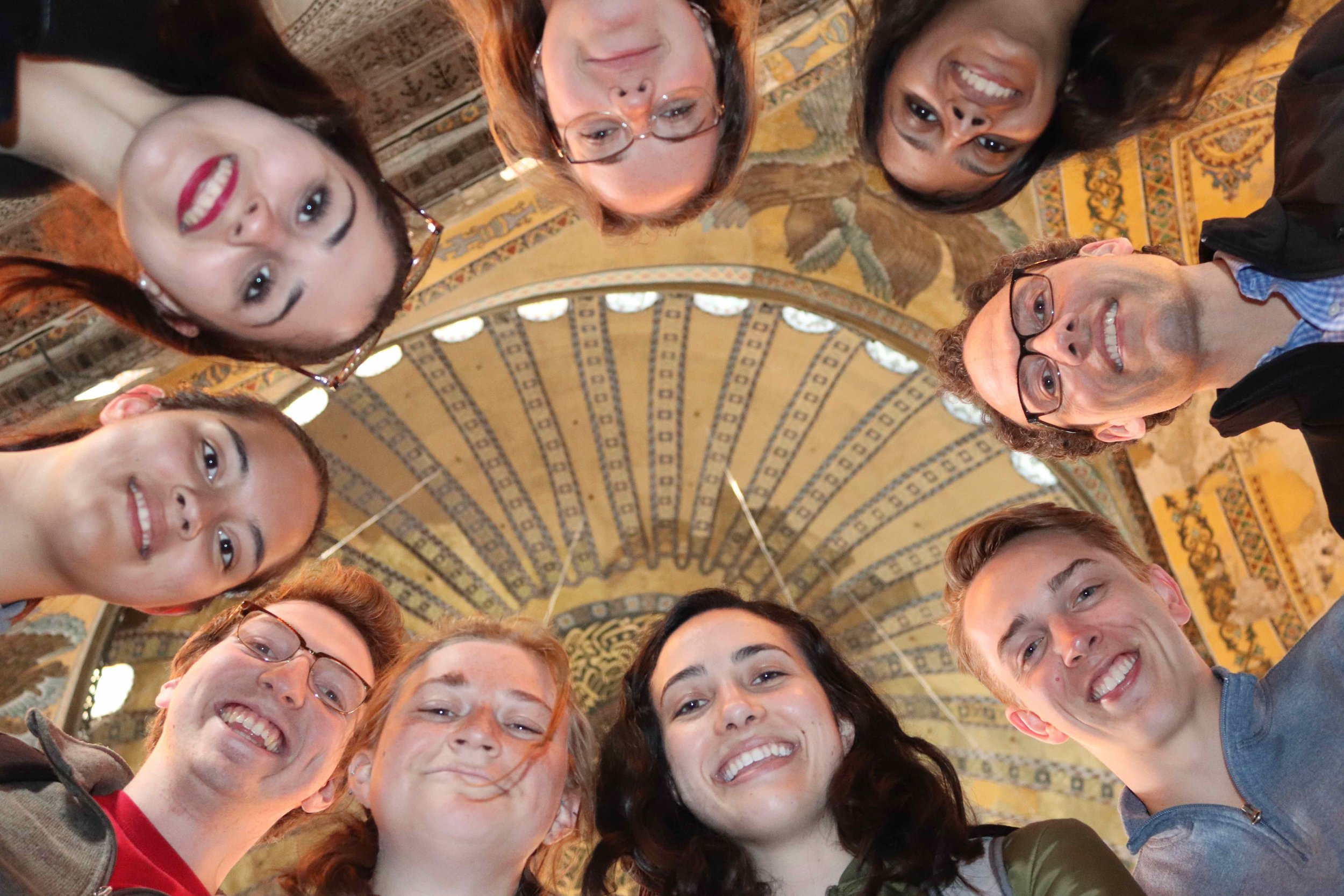 Newhouse students inside the  Hagia Sofia.