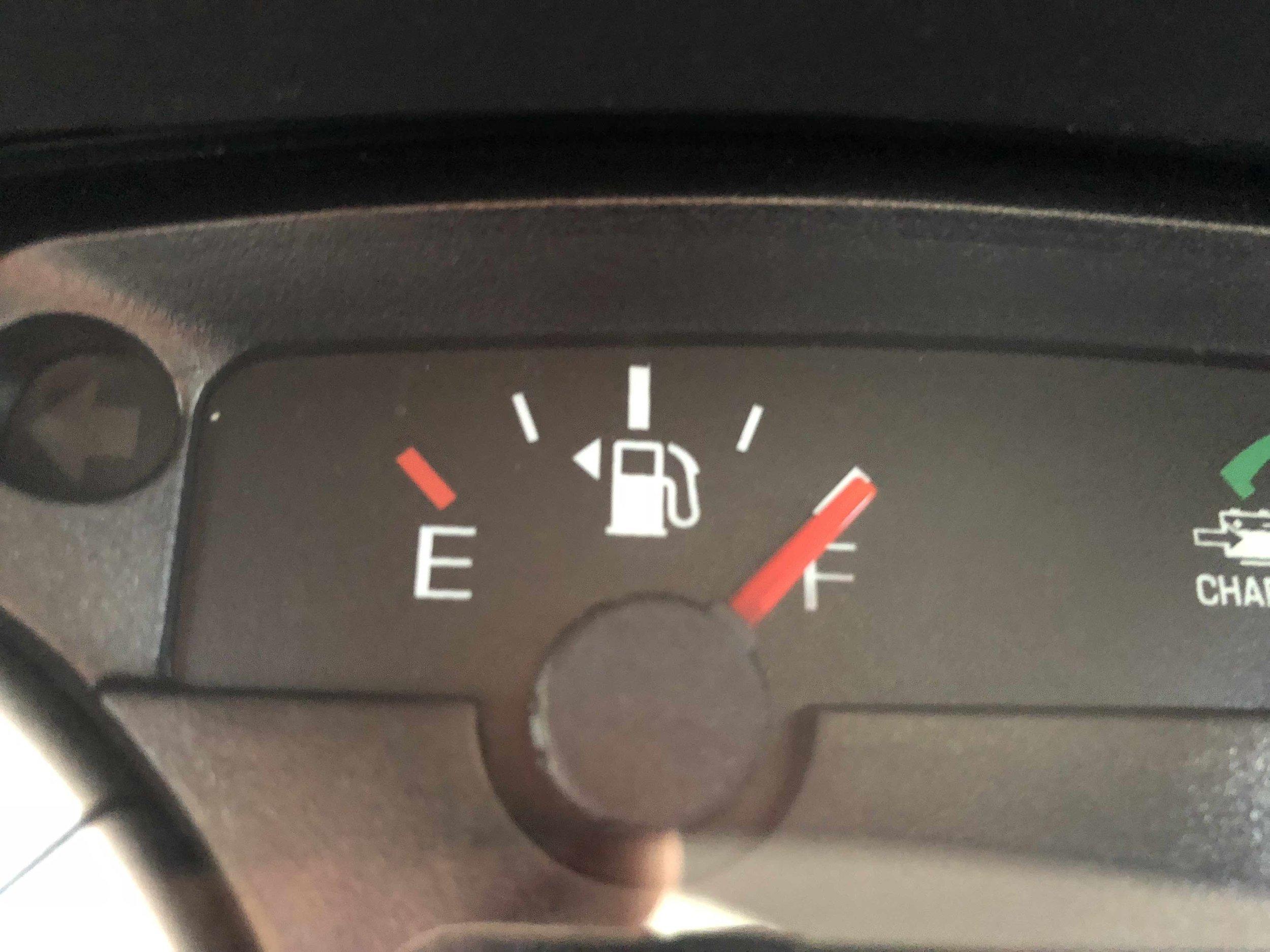 Full tank of gas - ✓