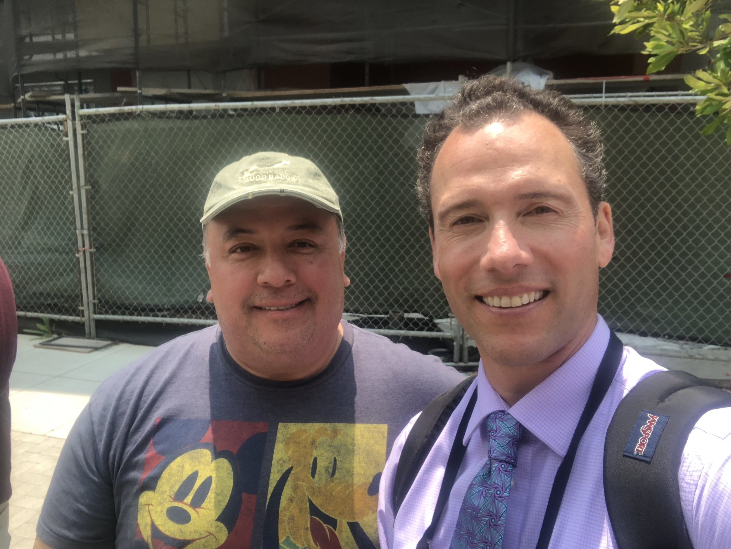 Julio is the armed security guard who accompanied me on the homicide story. He's a former Bay Area police officer. He stuck with me for every second I was out on the scene shooting video and conducting interviews.