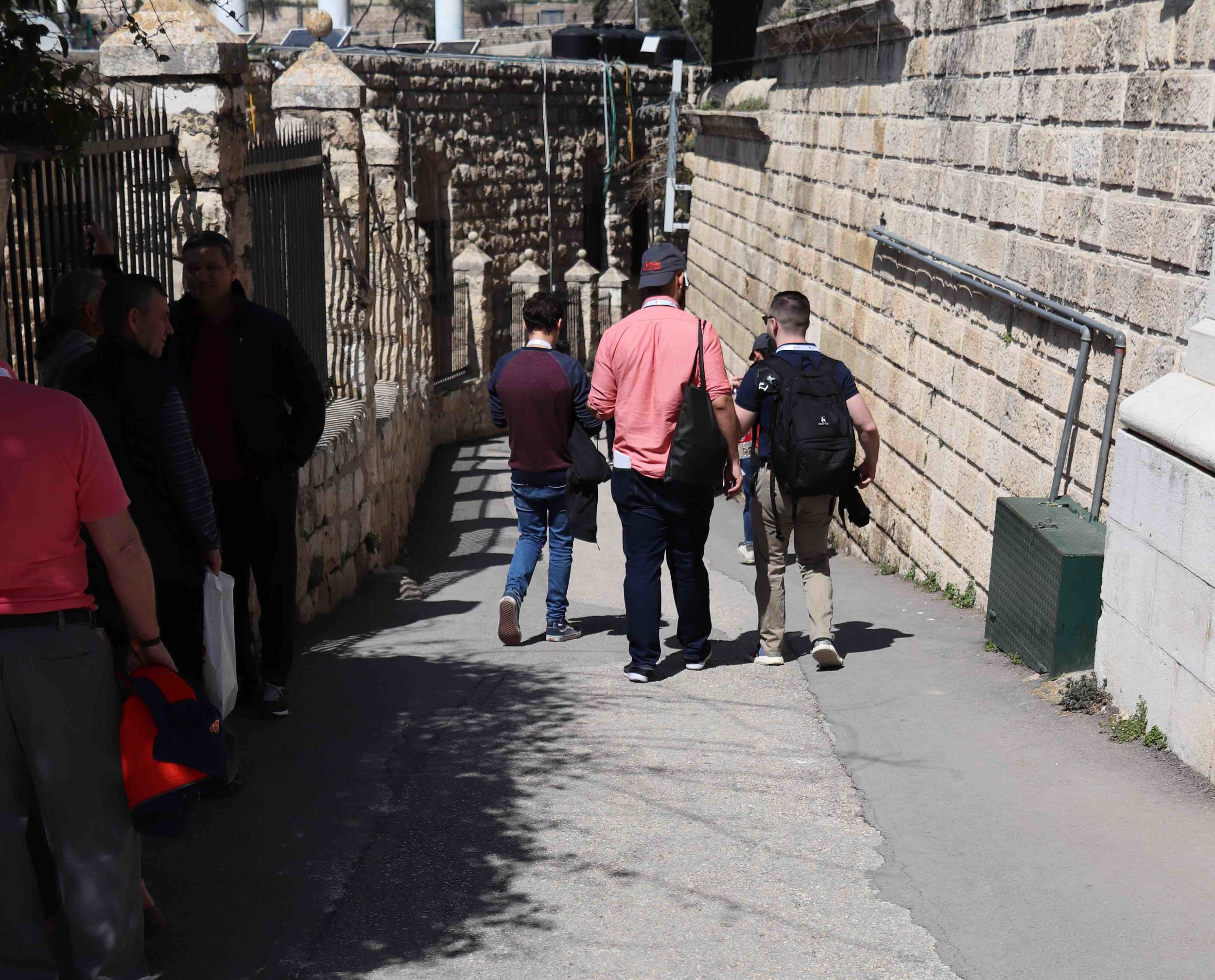 Walking the street Jesus took to enter Jerusalem the week before he was crucified.