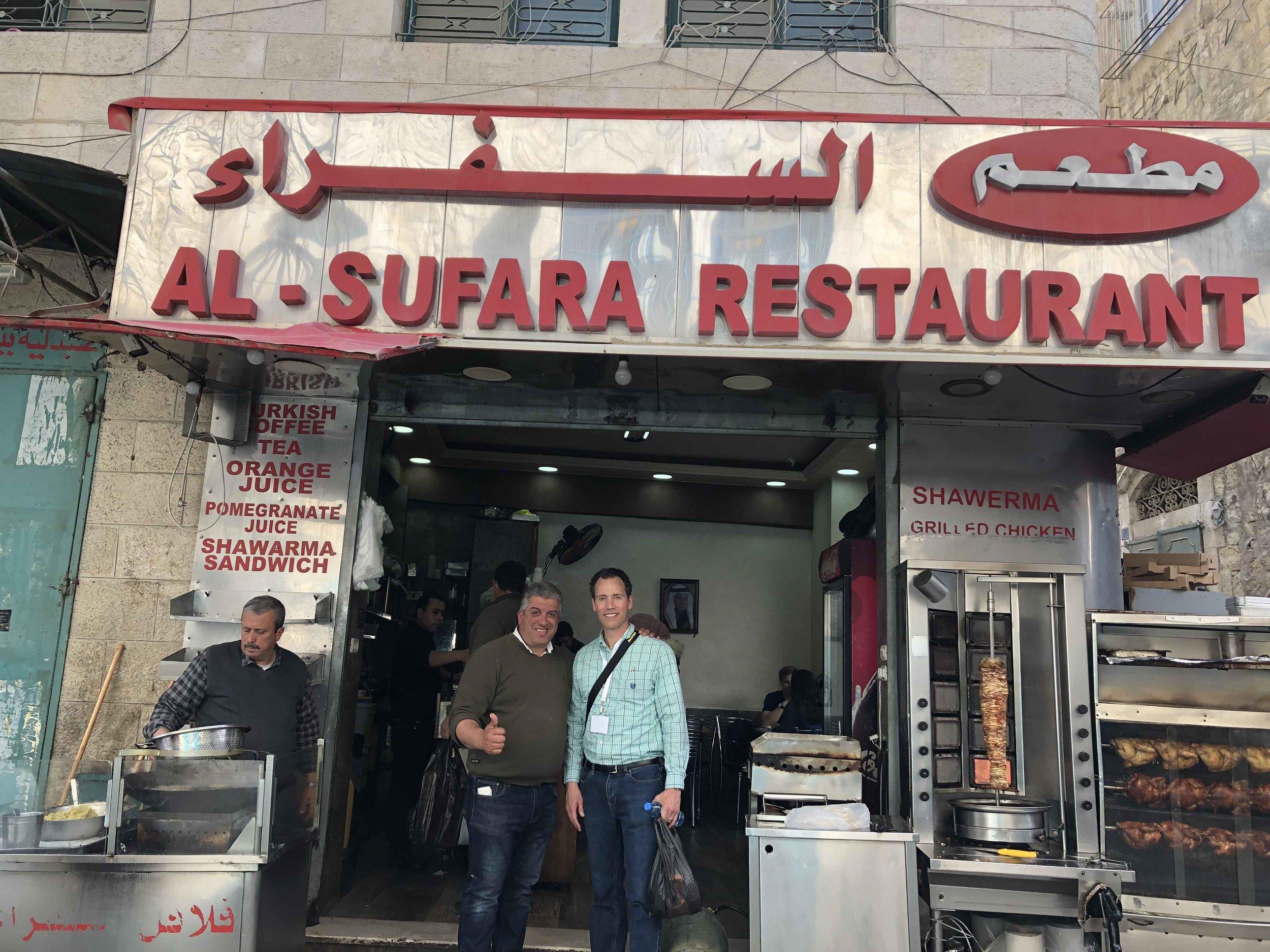 Restaurant owner Hatem and me.