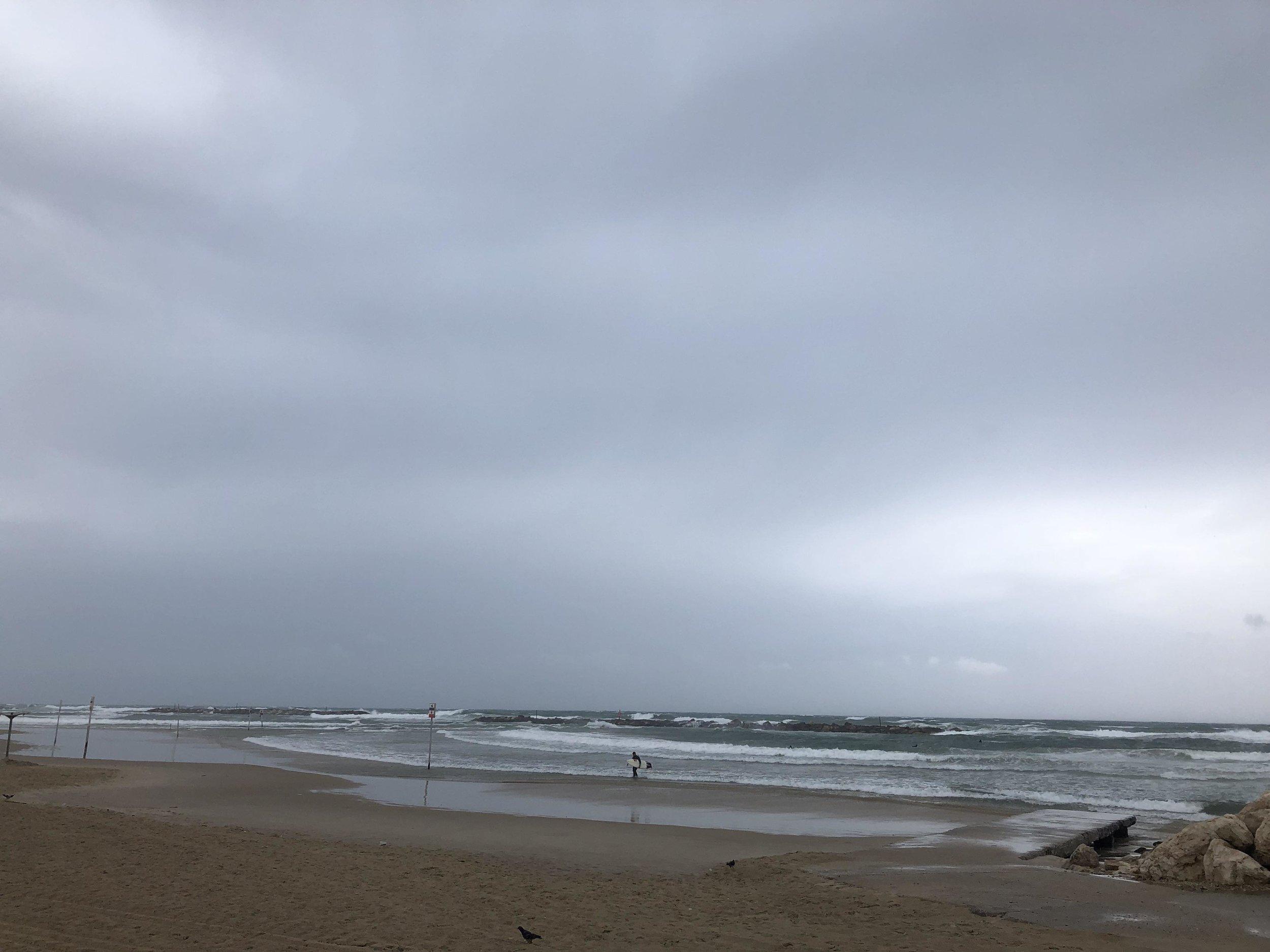 Wind, rain and overcast skies….