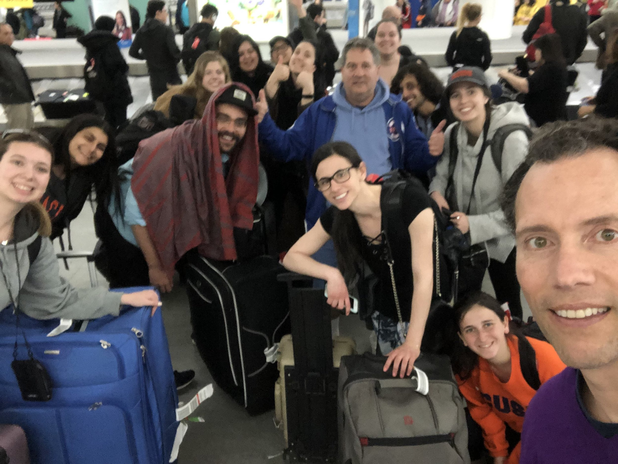 Arrived to JFK a little bleary (blurry)-eyed.