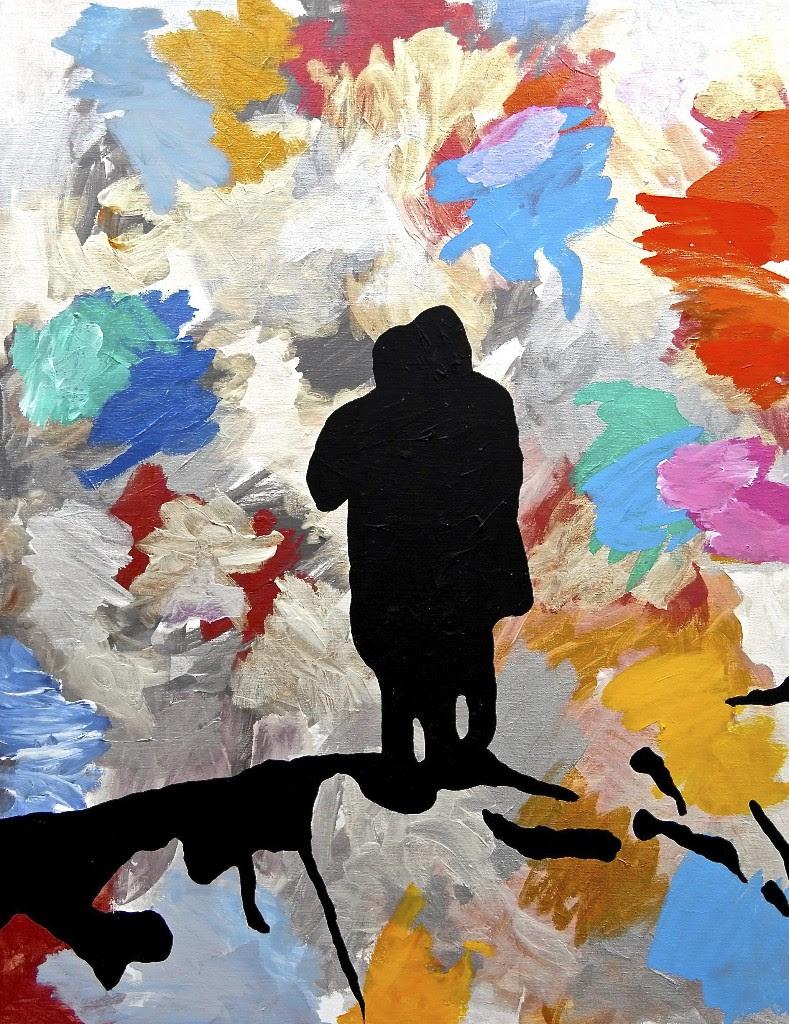 Stig Brøgger: Untitled, 2014. Acrylic on canvas, 100 x 80 cm.