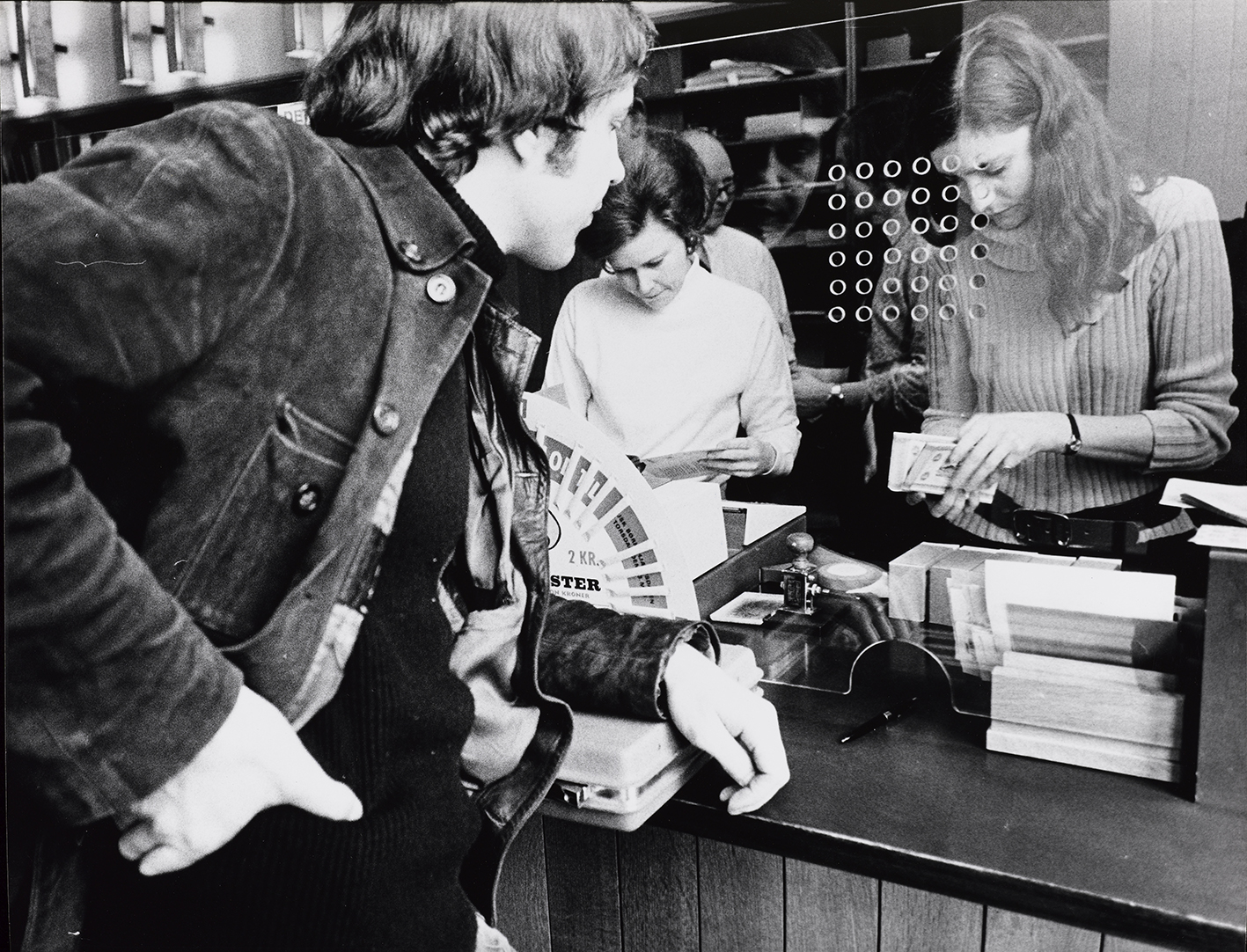 Photo: from Stig Brøgger,  Exchanging Money for Working Space, Or Money Equals Working Space (1971)