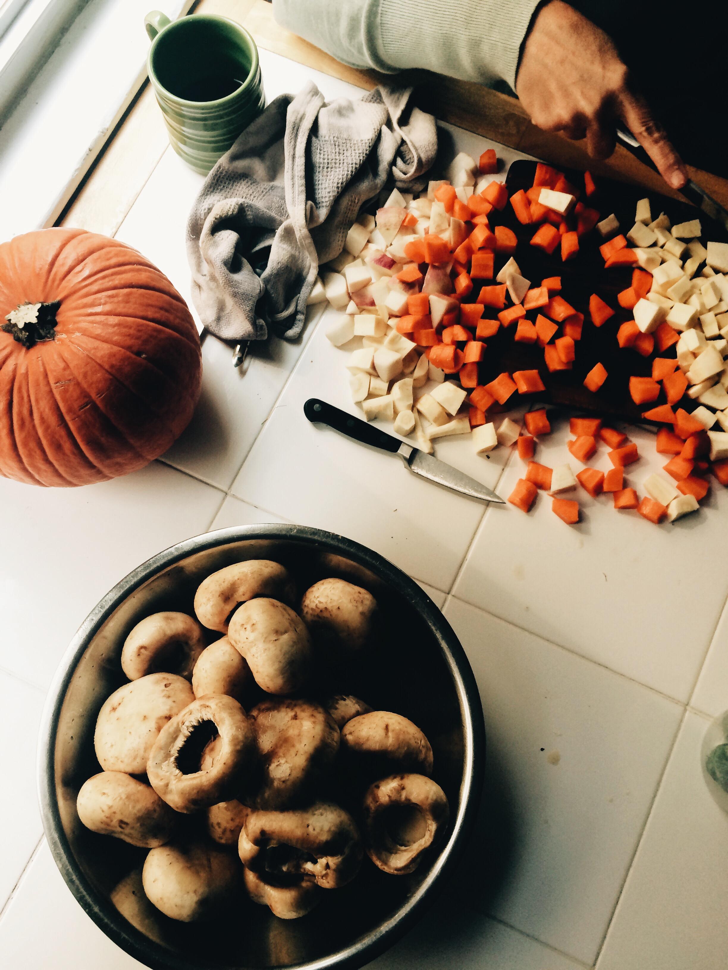 Food preparations!