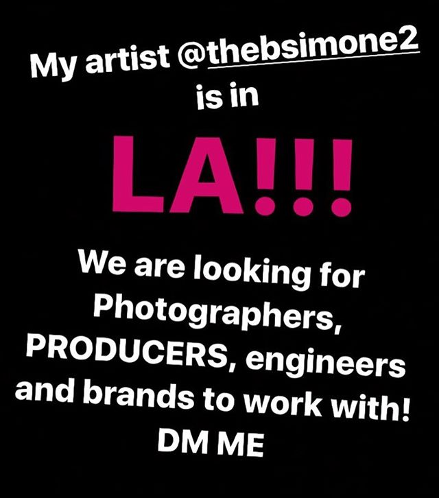 Who's in LA .. let's work we are working on some amazing projects!!