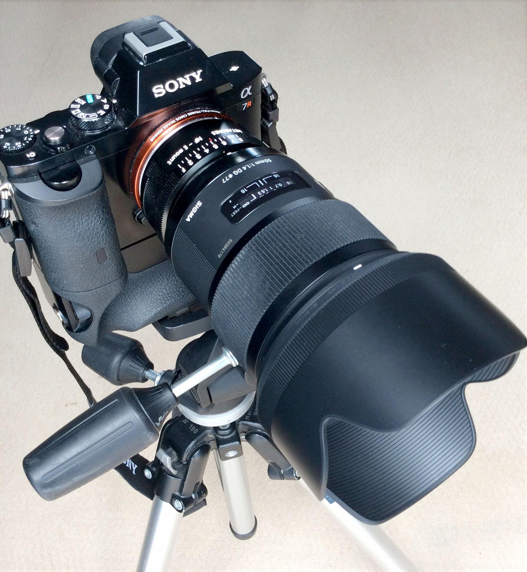 Sony A7r Sigma 50mm f/1.4 ART lens