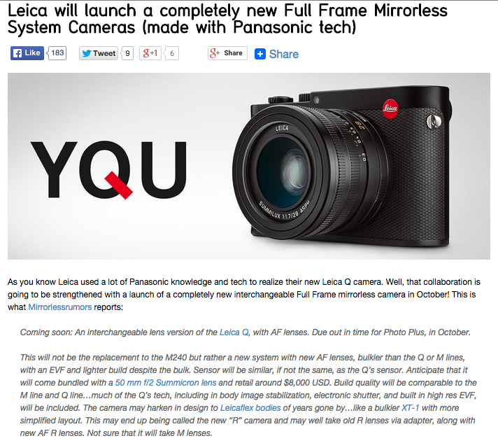 http://www.43rumors.com/leica-will-launch-a-completely-new-full-frame-mirrorless-system-cameras-made-with-panasonic-tech/