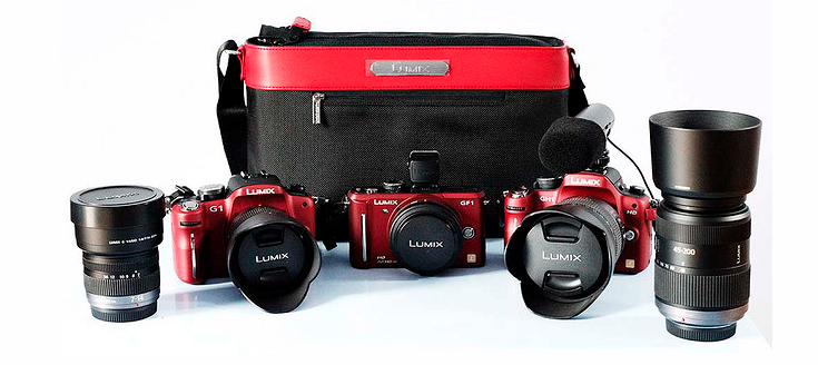 This is from the early days of mirrorless photography. All of that kit packed into the Panasonic bag and two of my nephews and I used to shoot wedding videos with this lot. i've always loved those red Panasonics and wished they still made them. They actually matched our company logo colour and always got some comments. We once got a job when somebody called me and said 'Are you the lot with the red cameras? We want to book you.' If you don't recognise them it's G1, GH1 and GF1 cameras and 7-14mm, 14-45mm (the 1st. Leica one), 14-140mm, 20mm and 45-200mm lenses. Which was the entire Panasonic m4/3 camera / lens range at the time. Things move on, but I've always loved this outfit and got some great results with it.