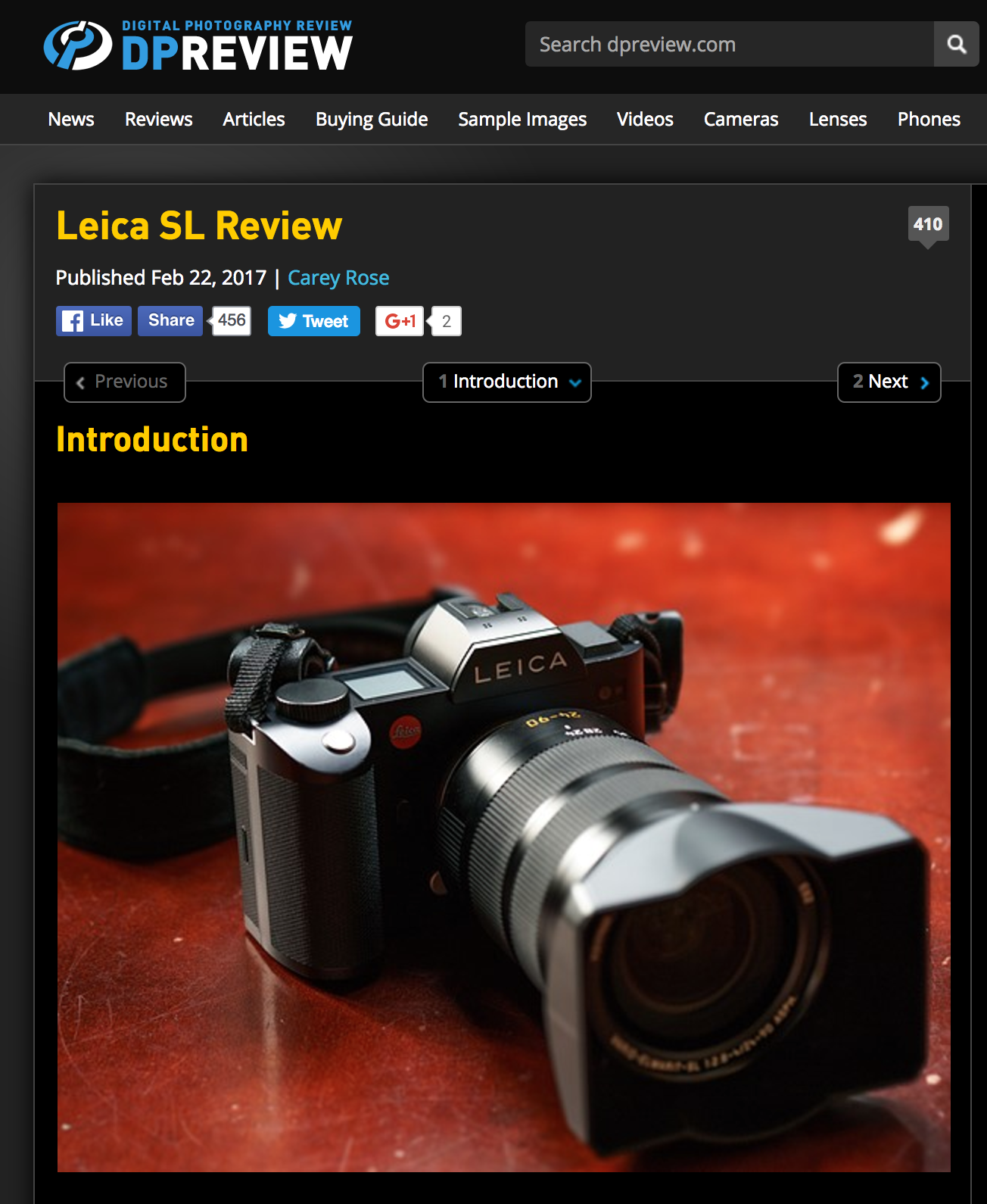 Dpreview Leica SL Review - Reviewing in general