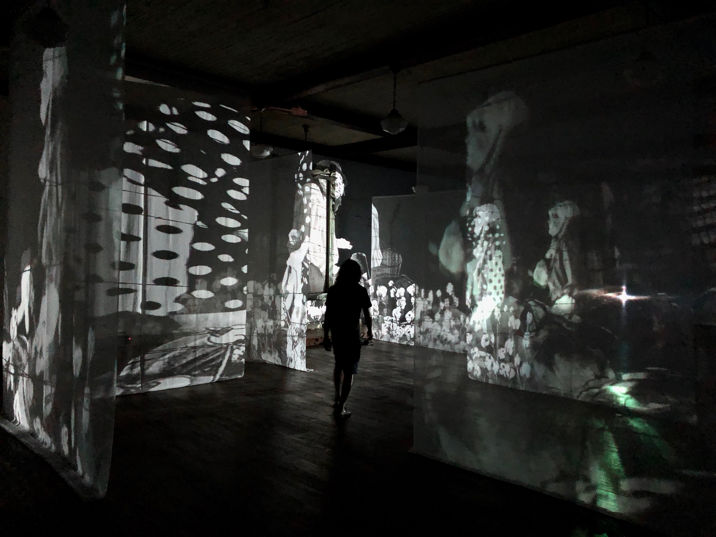Edison Peñafiel's 3rd floor residency work,  Land Escape,  within  Reenactments of a Perpetual Cycle