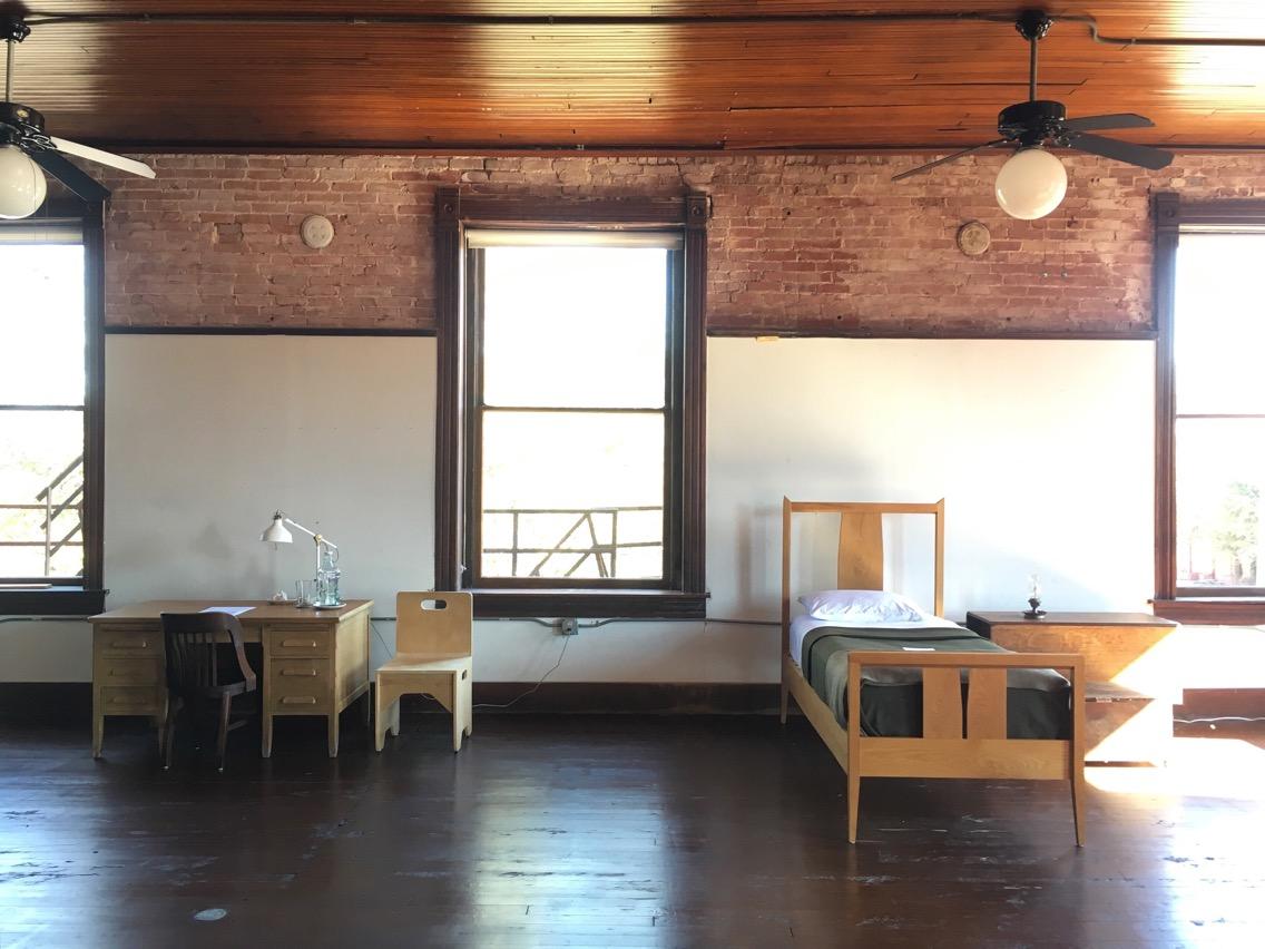 Second Floor Studio desk and bed